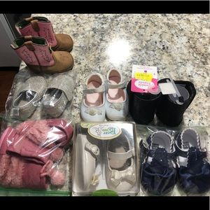 Lot of 7 pair of shoes/ boots infant size 1